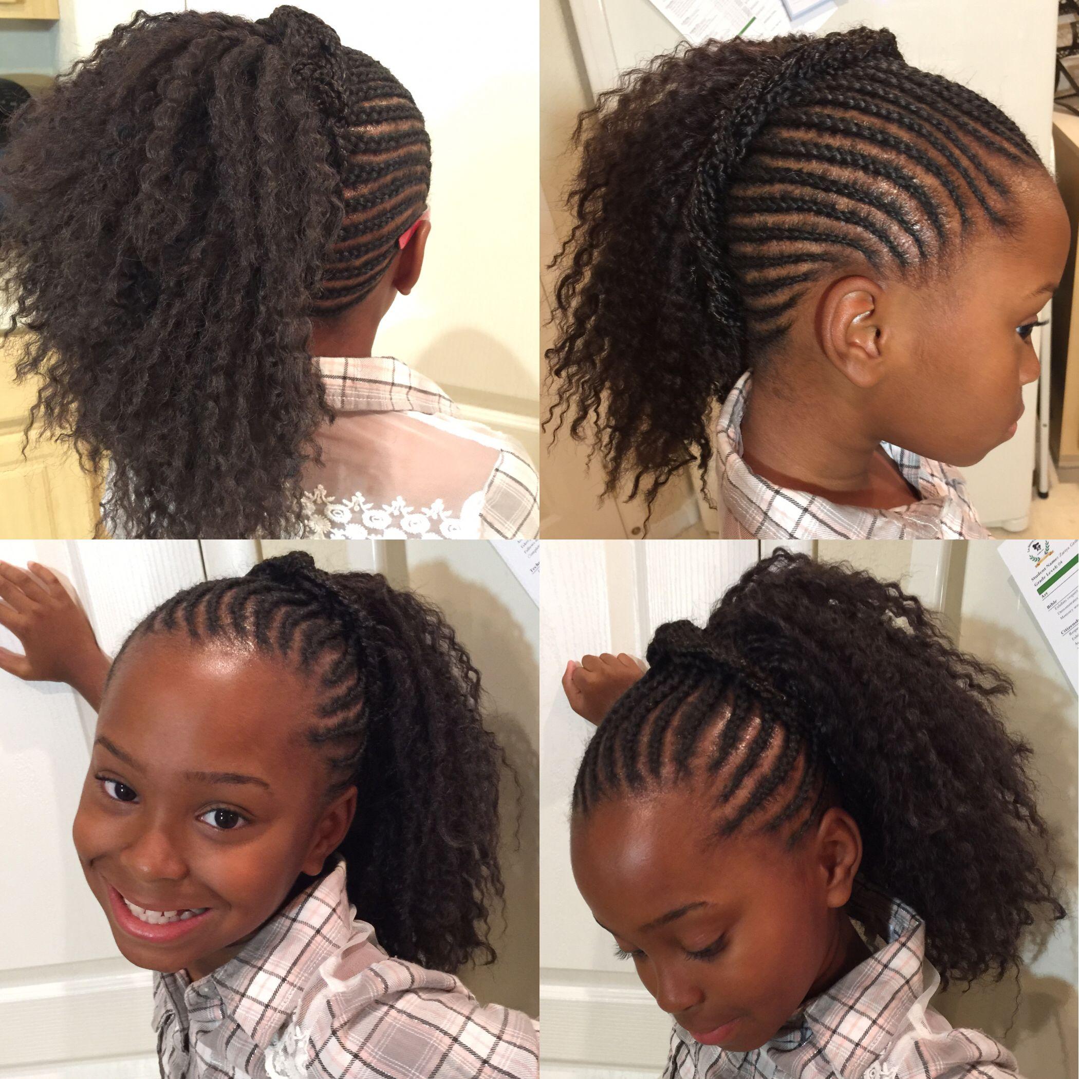 crochet braids, cornrows, french braids, little girl hair, black
