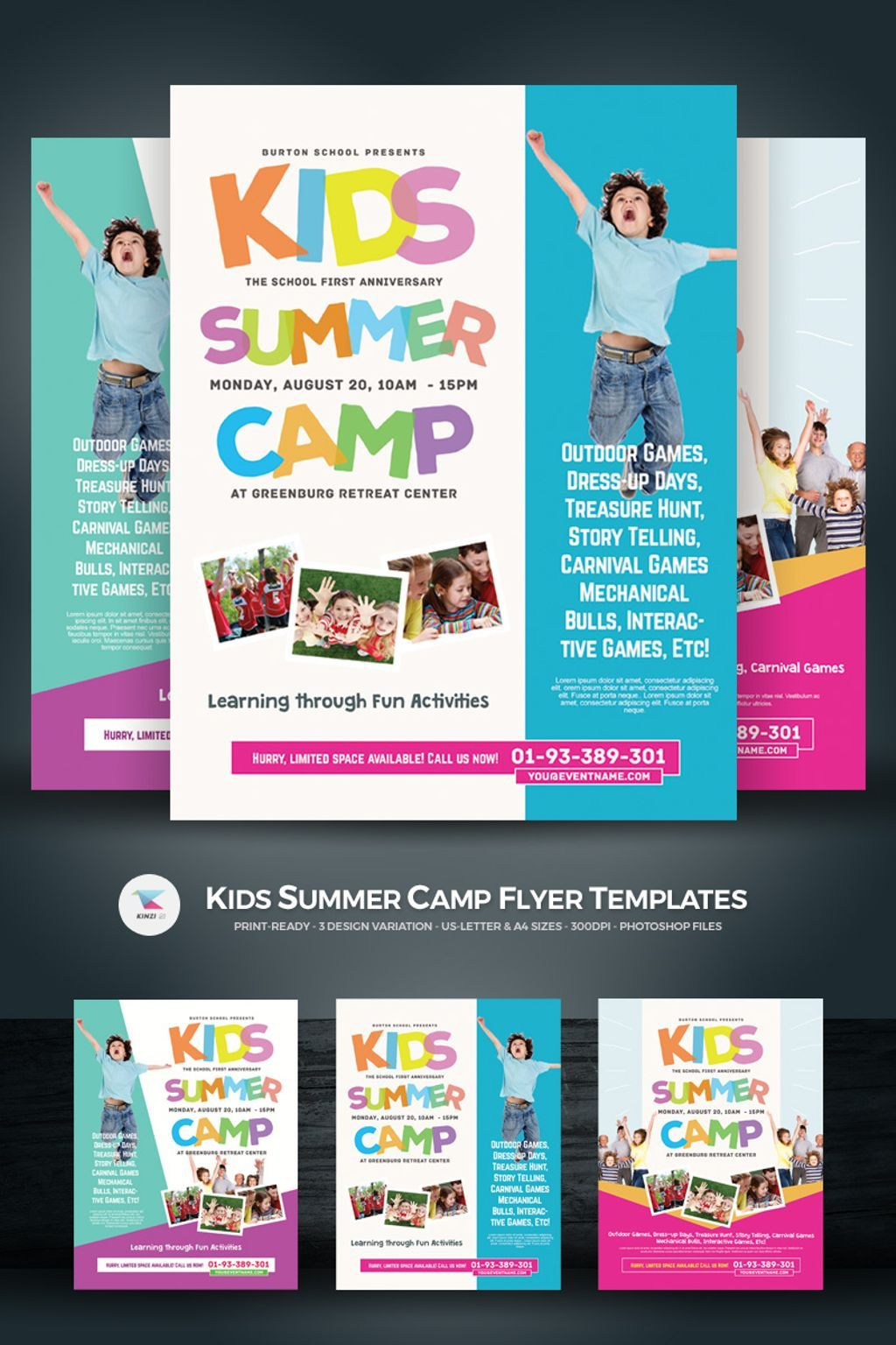 Kids Summer Camp Flyers Psd Template 67234 Summer Camps For