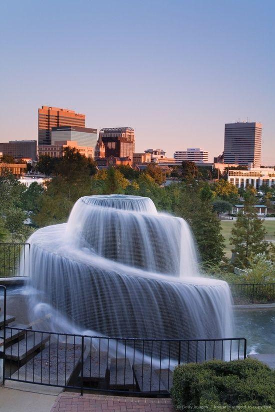 Finlay Park Fountain, Columbia, South Carolina #vacation