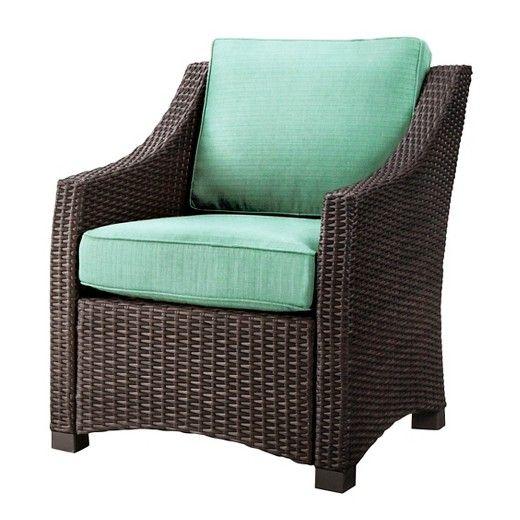 belvedere wicker patio club chair threshold target wishlist rh pinterest com