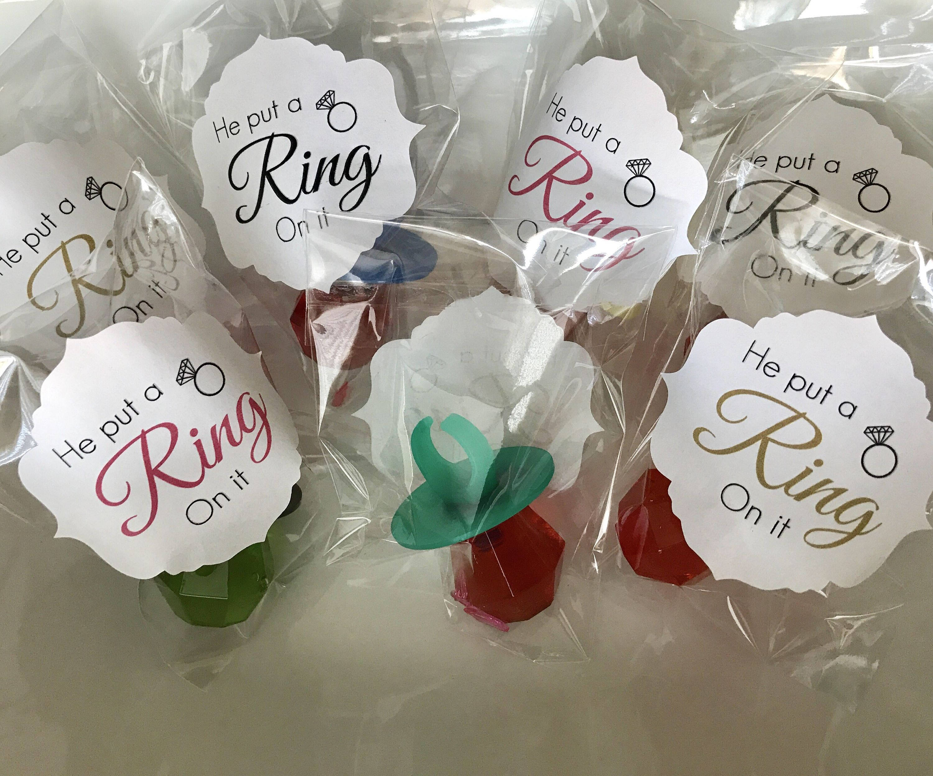 A personal favorite from my Etsy shop https://www.etsy.com/listing/565841168/ring-pop-favors-bachelorette-party
