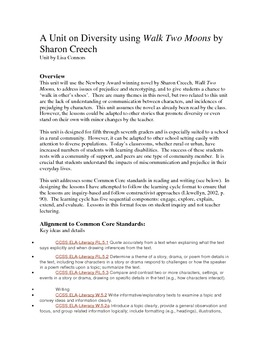Diversity Unit Using Walk Two Moon By Sharon Creech The Essay Discussion Question Theme