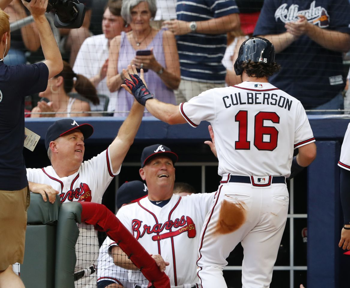 Culberson power Braves past Padres, 10 Braves