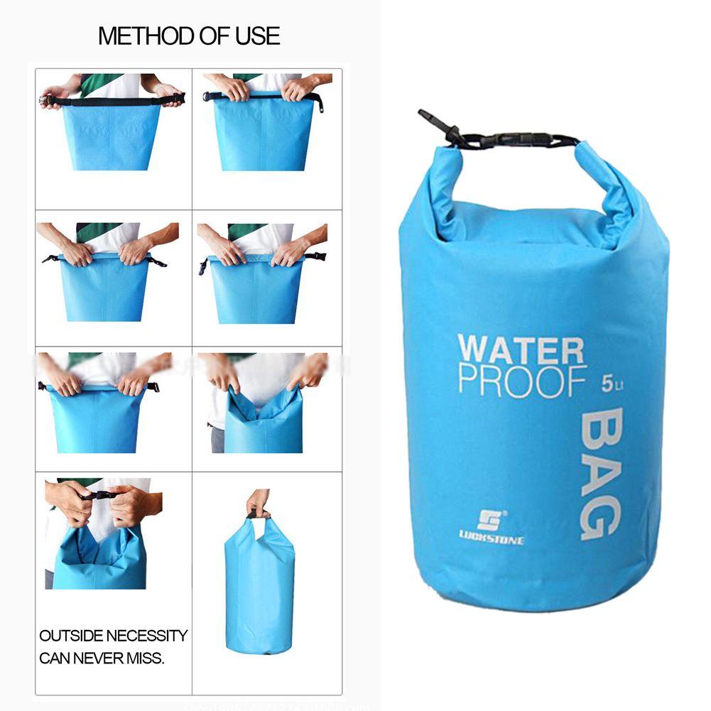 5L Outdoor Waterproof Dry Bag Storage Sack Camping Hiking Canoe Kayaking Rafting