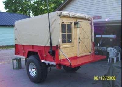 building trailer tent