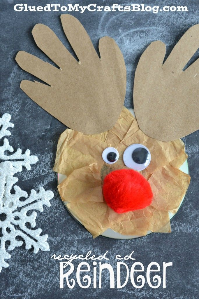 Recycled CD Ornaments - Kid Craft | Glued To My Crafts ...