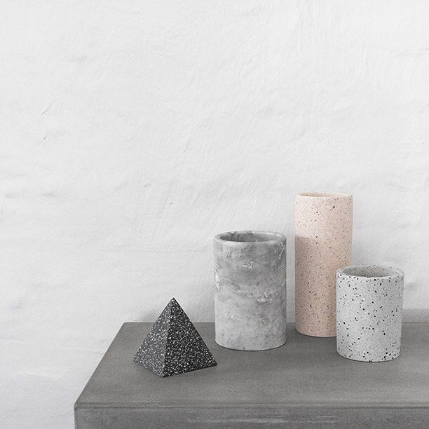 The new terrazzo collection from the minimalist store offers unique decorative accessories