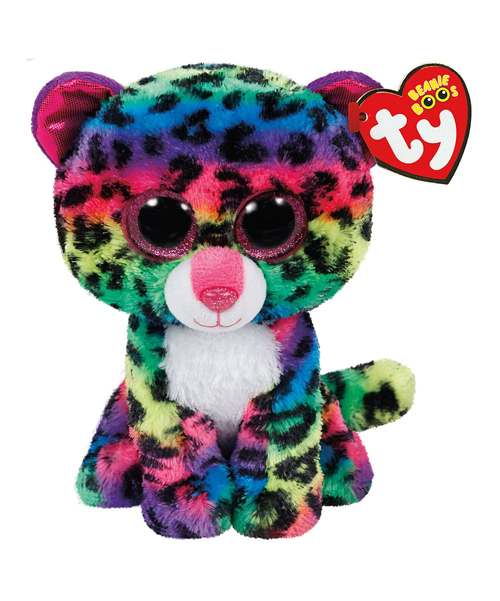 91340b411d2 Dotty the Rainbow Leopard Beanie Boo Plush Toy