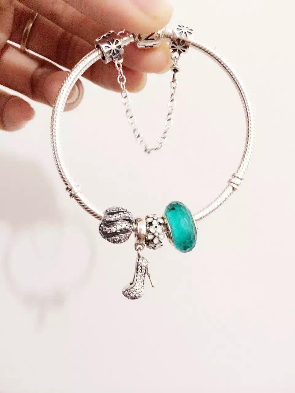 68d5fbe5a $159 Pandora Charm Bracelet Green White. Hot Sale!!! SKU: CB01811 - PANDORA  Bracelet Ideas