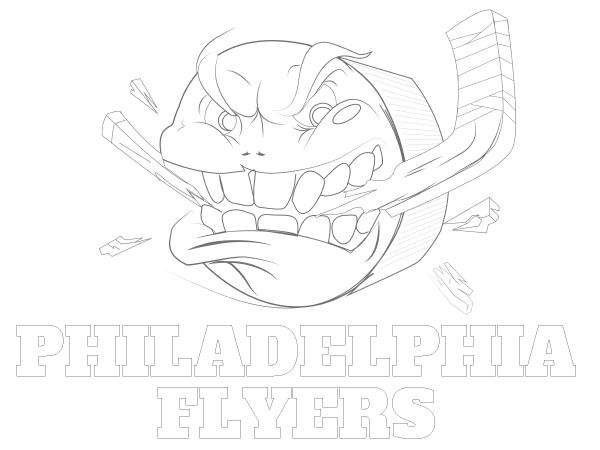 Printable Philadelphia Flyers Coloring Sheet | Hockey Swag | Pinterest