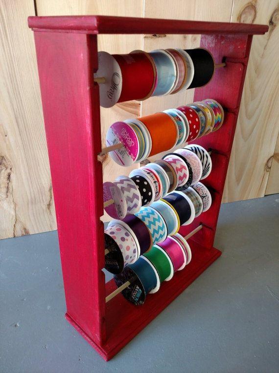 Organisateur de ruban rack détient 125 bobines 4 et 5 pouces