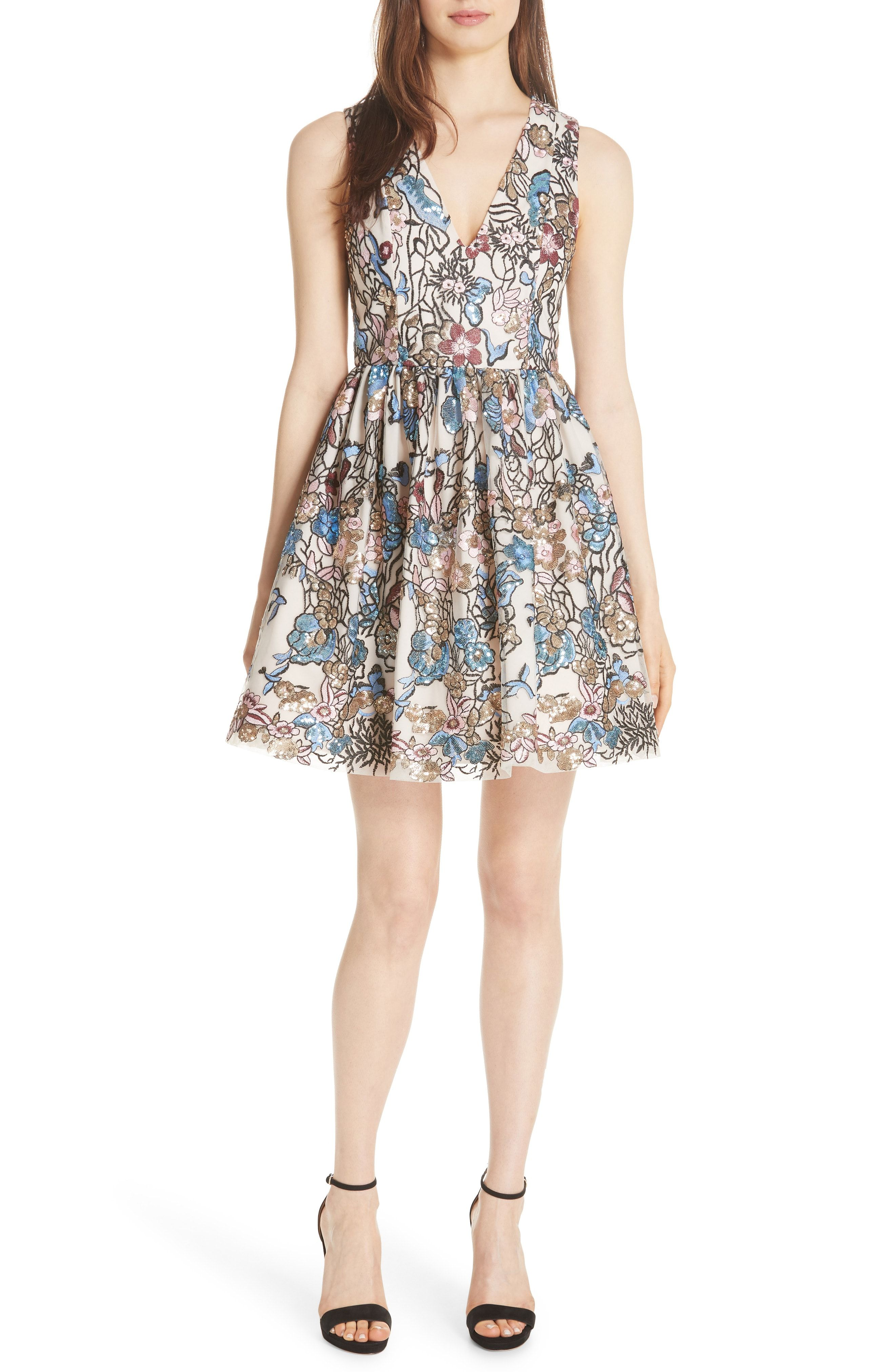 70f44486fc36 New Alice Olivia Becca Embroidered Fit amp  Flare Dress from the popular  stores - all in one. Sku agcc42740xghz87743