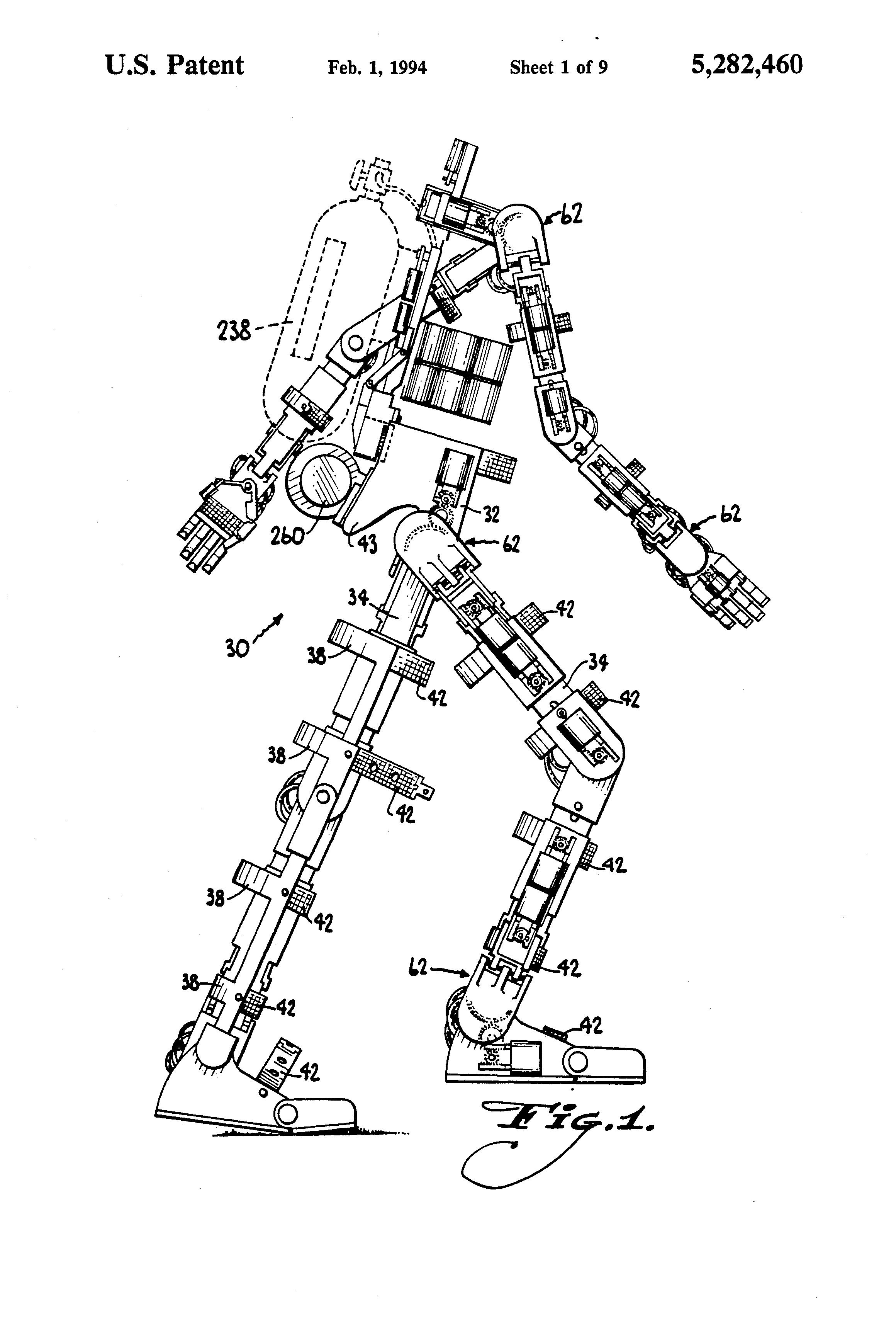 Exoskeleton Parallel Load Vector Diagram