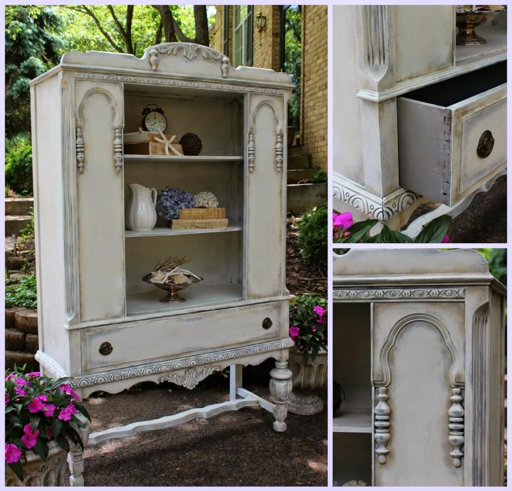 www.vintagecountrymarketplace.com  Annie Sloan Old White over French Linen Cocoa Wash