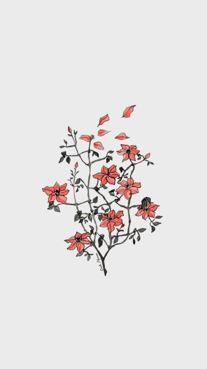 Uploaded By Katrina Find Images And Videos About Text Flowers And Wallpaper On We Heart It In 2020 Minimalist Wallpaper Flower Wallpaper Aesthetic Iphone Wallpaper