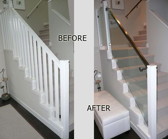Indoor railings interior glass railing projects in for Interior glass railing designs