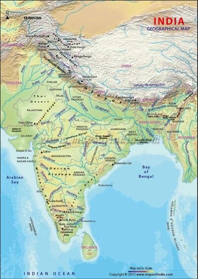 India Map Geographical Geographical map of India | Maps | India map, Geography map