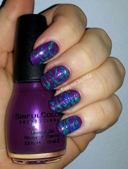 Sugar Spun Nails #sugarspun #blue #nails #nailart #nailpolish #naillacquer #nailpaint #polishaddict - bellashoot.com