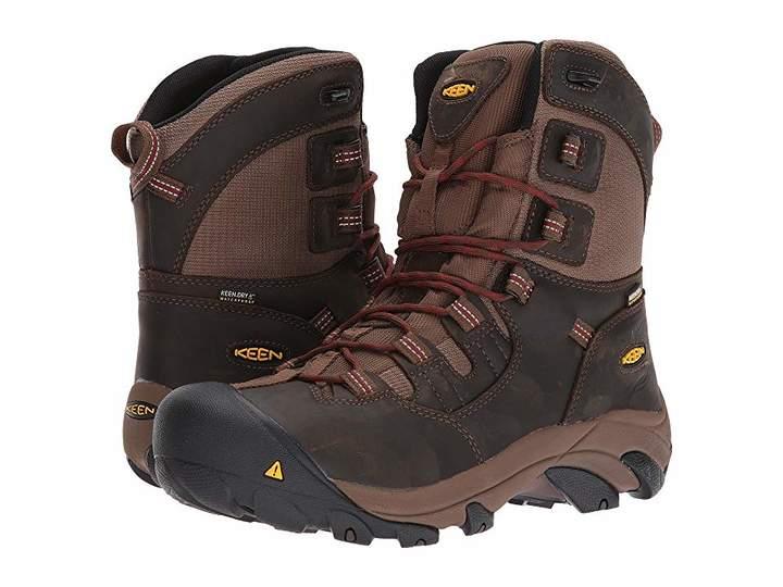 Keen detroit 8 soft toe waterproof mens work boots botas