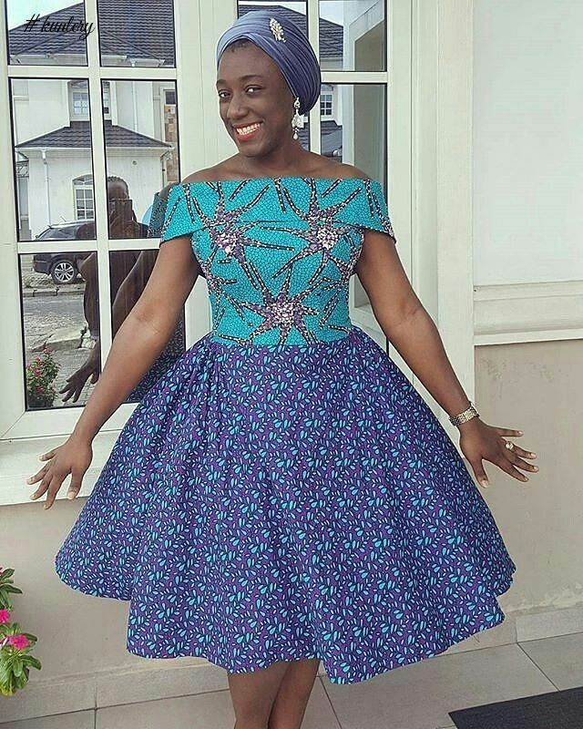 SHORT ANKARA MAXI DRESS PERFECT FOR THE WEEKEND In 2019
