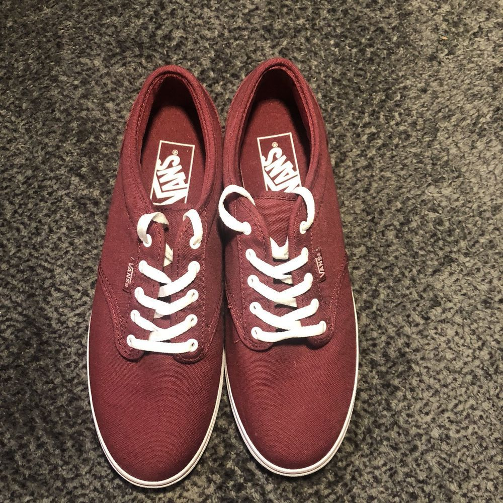 b16e09f615 Burgundy Vans Off The Wall Skateboard Shoes Men s Size 6 1 2 Women Size 8   fashion  clothing  shoes  accessories  unisexclothingshoesaccs   unisexadultshoes ...