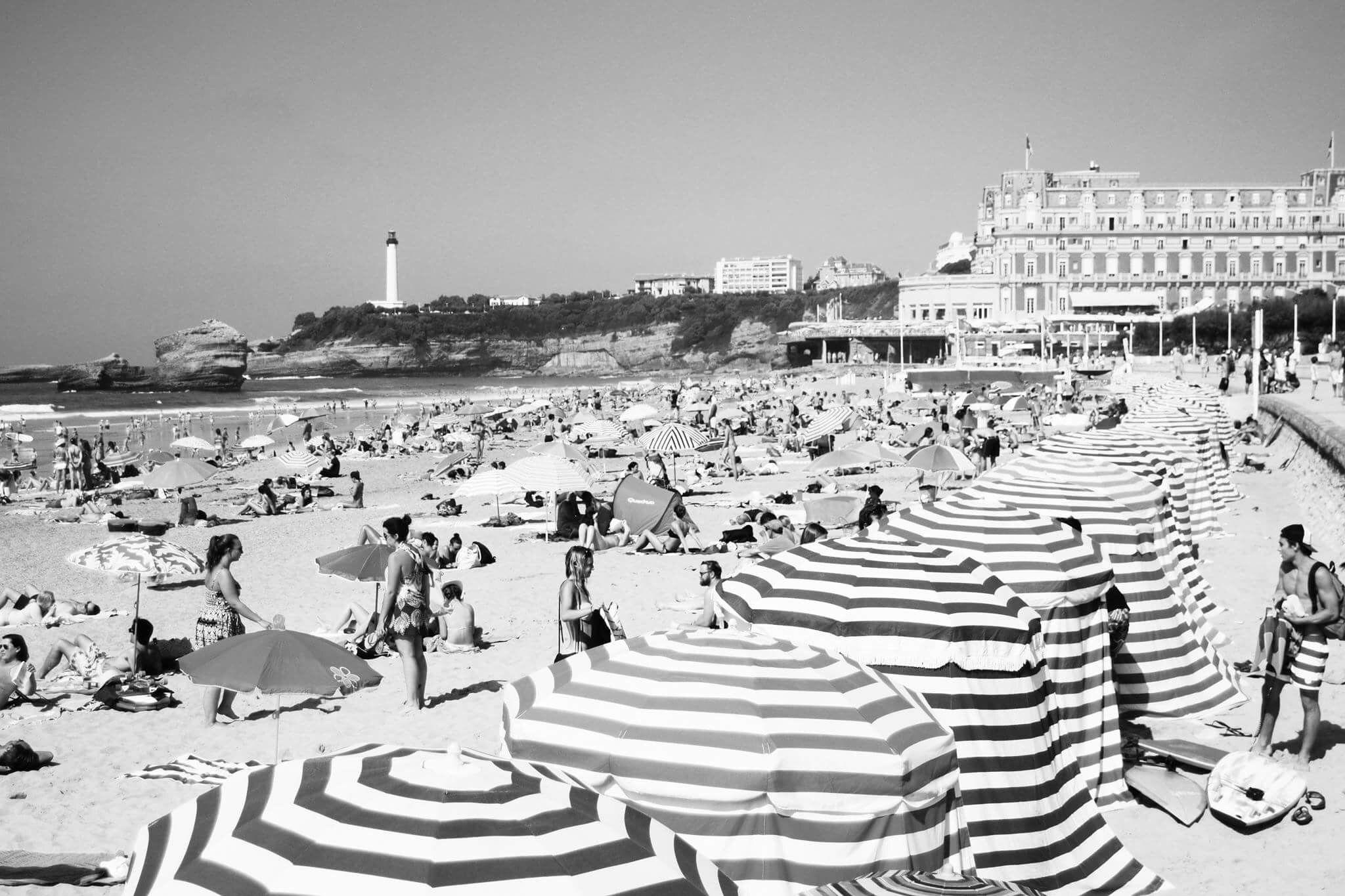 Vintage inspired Biarritz beach Landscapes Pinterest Landscape