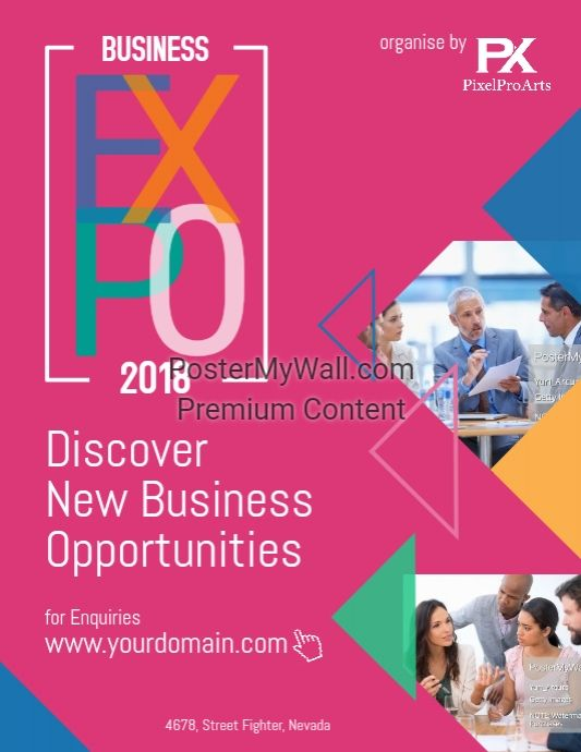 Business Expo Event Poster Flyer Modern Business Flyer Template