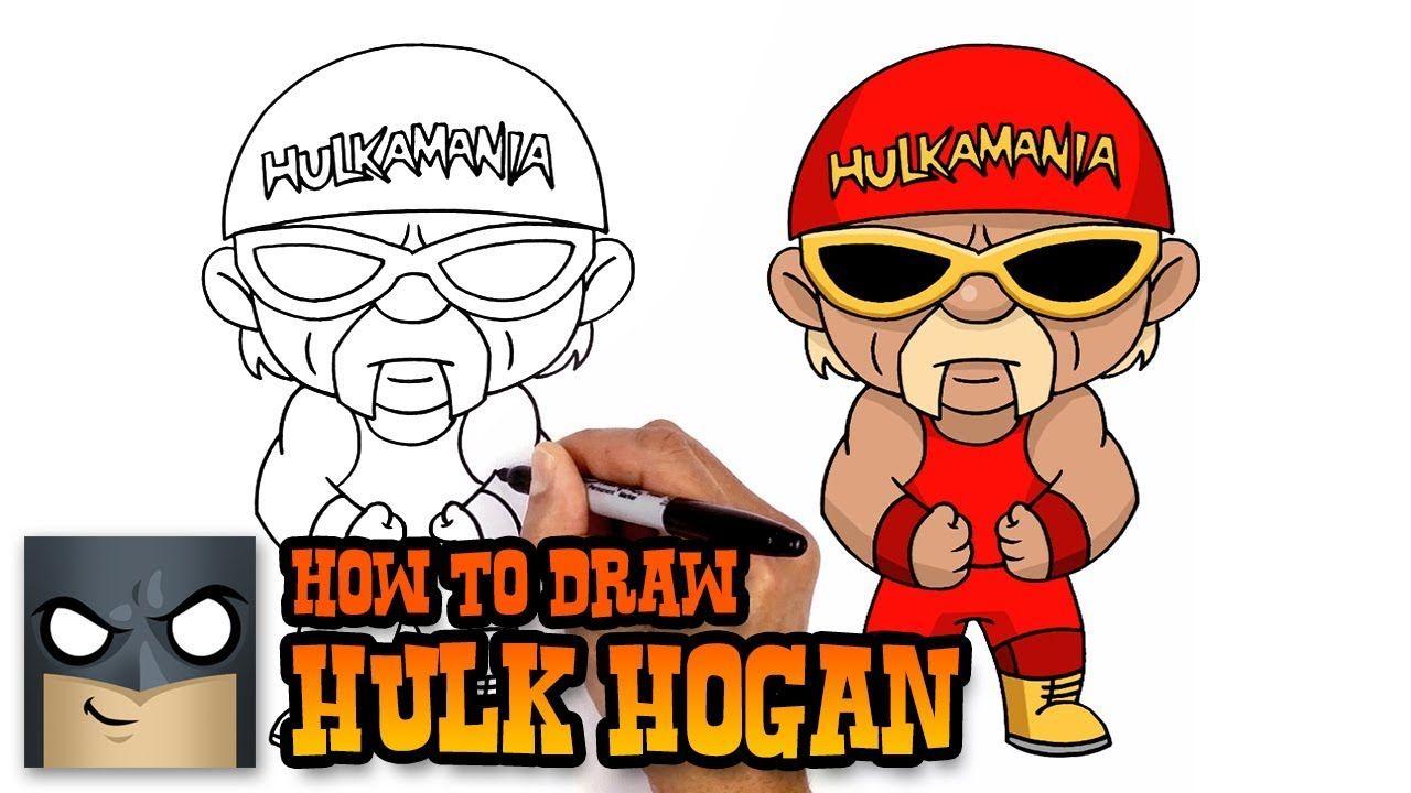How To Draw Hulk Hogan Wwe Art Tutorial Hulk Hogan Easy Cartoon Drawings Cartooning 4 Kids