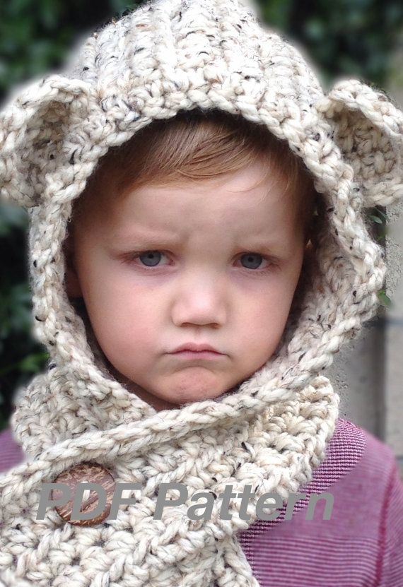 Crochet Pattern - Brady Bear Scoodie - Toddler, Child, and Adult ...