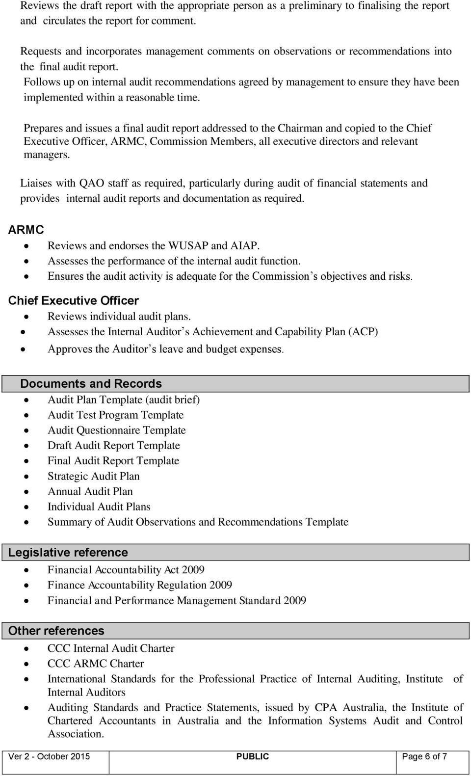 Internal Audit (Policy & Procedure) Pdf Free Download