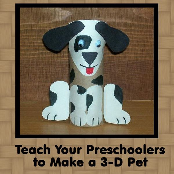 Dog Crafts For Preschoolers Crafts Make A 3 D Pet And A Pet