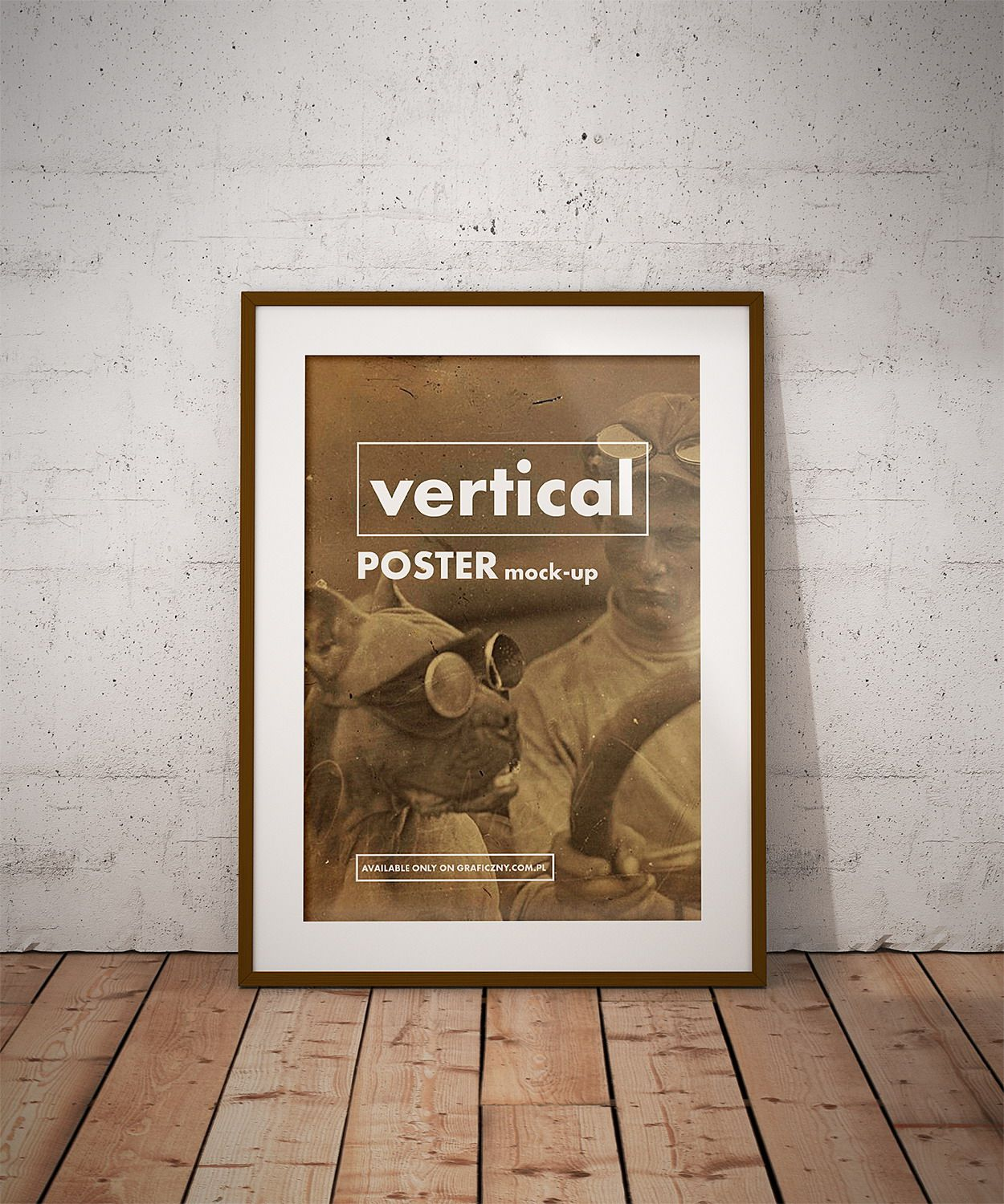 Vintage Posters Frame Mockup Movie Wall Art Poster Frame Book Wall Art
