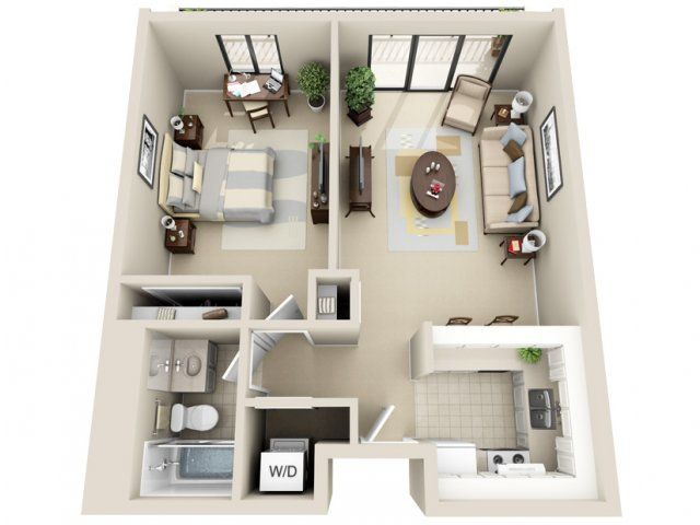 1 Bed  1 Bath Apartment In Grand Rapids Mi  Viewpointe Simple 1 Bedroom Apartment Design Ideas Review