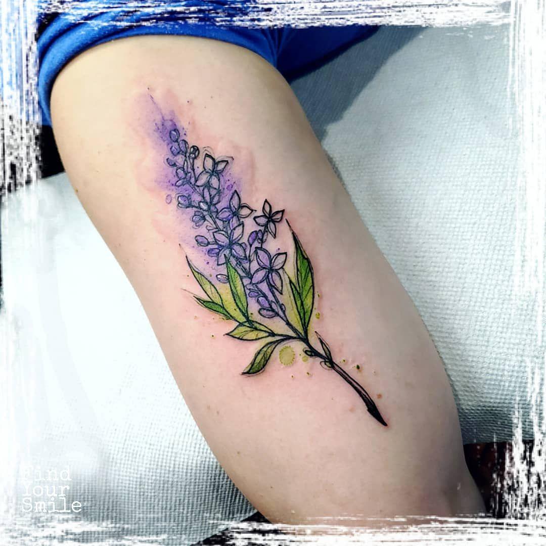 Russell Van Schaick On Instagram Some Flowerssssss Flower Flowertattoo Watercolorflower Lilac Tattoo Purple Flower Tattoos Floral Back Tattoos