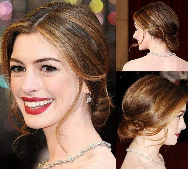 Hollywood Anne Hathaway Red Carpet Hairstyle Photos Oscar Hairstyles Anne Hathaway Hair Red Carpet Hair