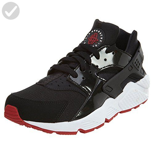 d4b835992297 Nike Air Huarache Bred Men Lifestyle Casual Sneakers New Black Gym Red -  9.5 - Mens