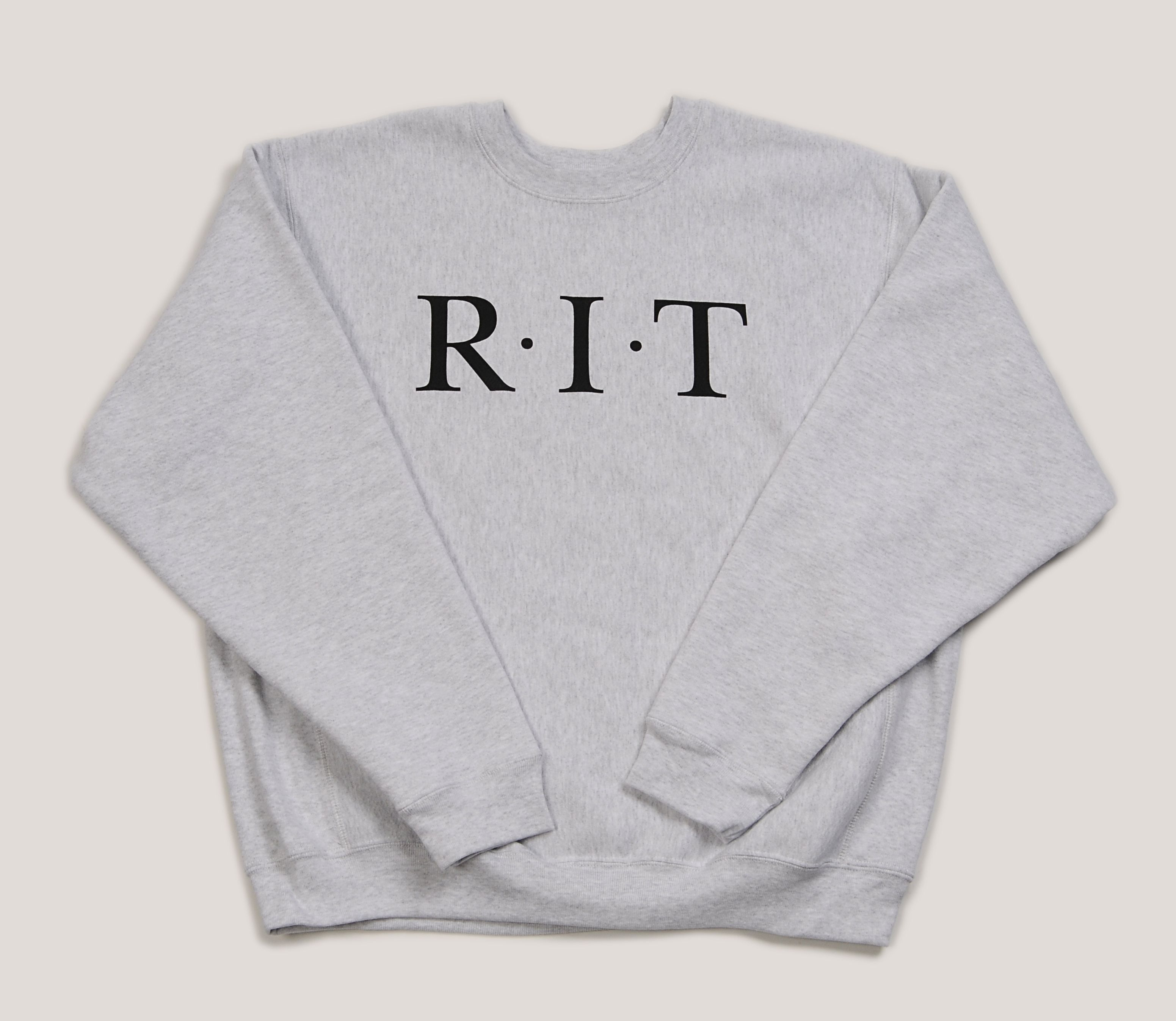 Extra Thick 15 5 Oz Super Heavyweight Crewneck With Rit Primary School Logo School Logo Rit Sweatshirts [ 2693 x 3102 Pixel ]