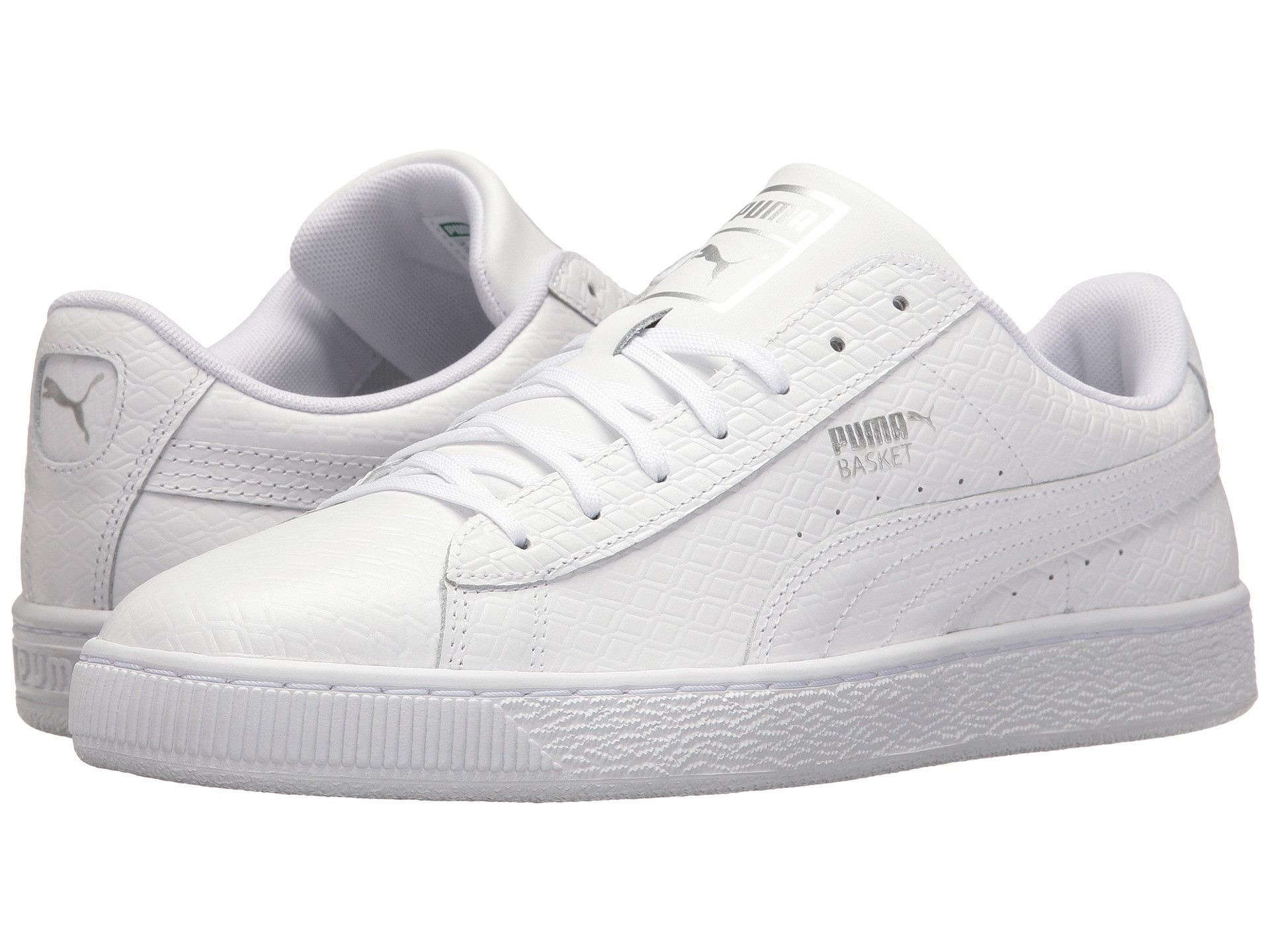 M Spartoo White Free Delivery Basket Puma Classic Lfs With