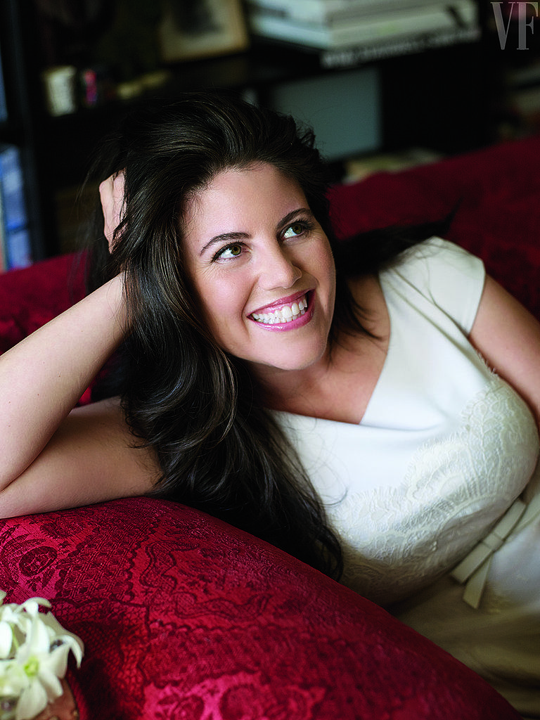 """••Monica Lewinsky•• 2014-05 (©Getty/VanityFair) - also her official Twitter photo https://twitter.com/MonicaLewinsky at 41 vs 1998-01 scandal at 25 • let her be pissed at Beyoncé for using her name in song, Partition: """"Thanks, Beyoncé, but if we're verbing, I think you meant 'Bill Clinton'd all on my gown"""" she writes in her VanityFair column"""