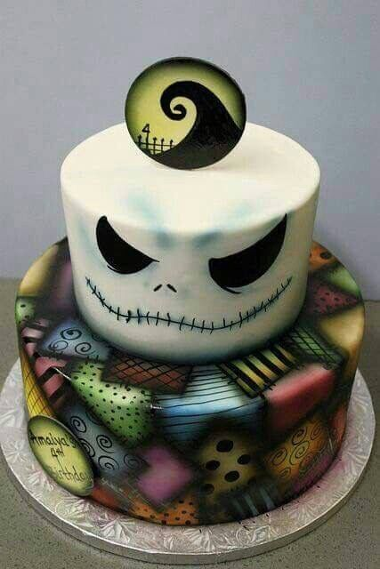 The Nightmare Before Christmas cake Tim Burton Pinterest