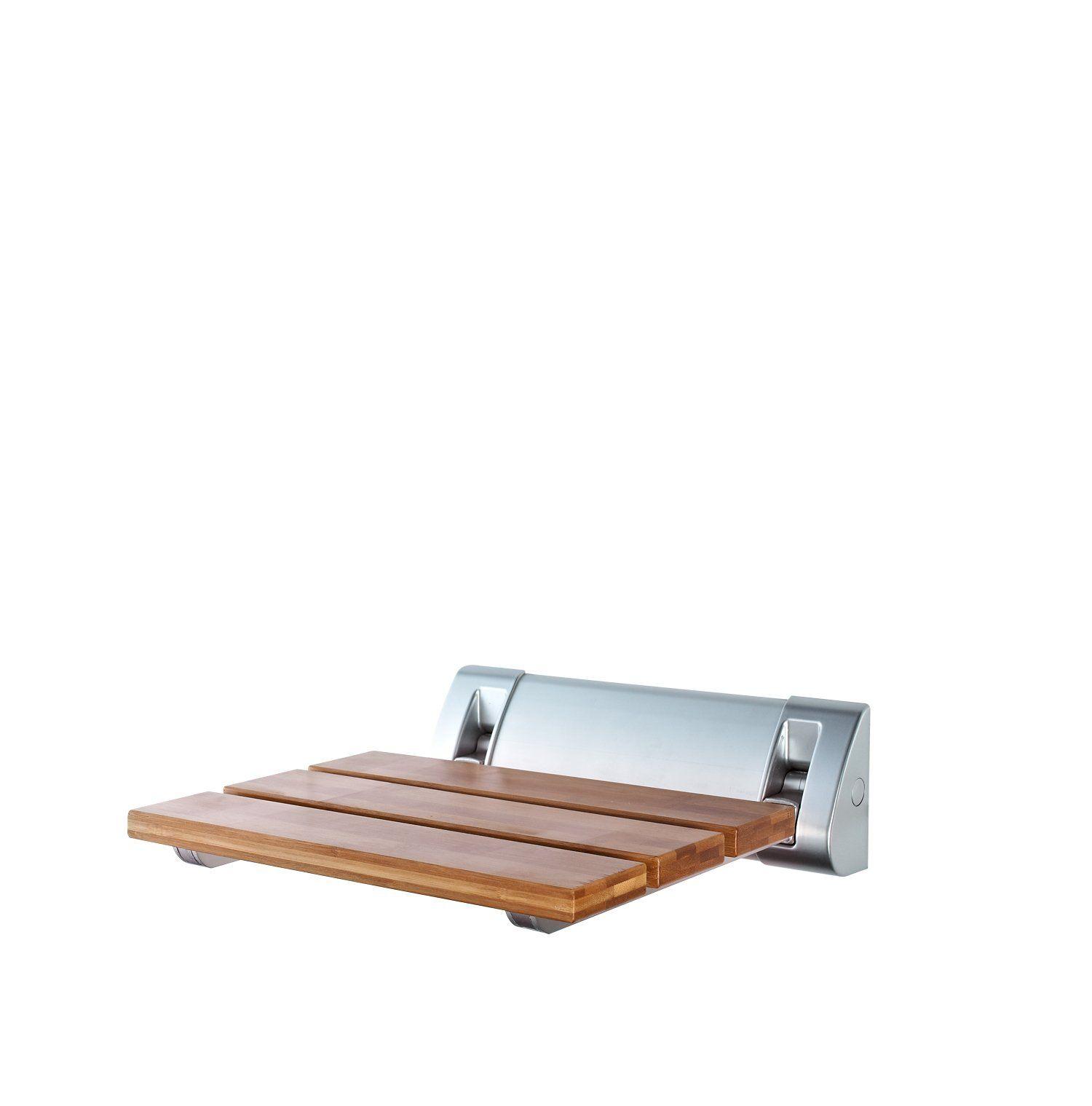 Ridder A0020200 Wall-Mounted Shower Seat Bamboo - 320 x 230 mm ...