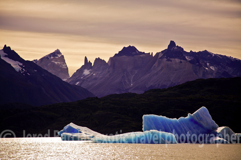 The ice formations in Torres del Paine National Park, Chile are part of its huge topographical varieties of climate.