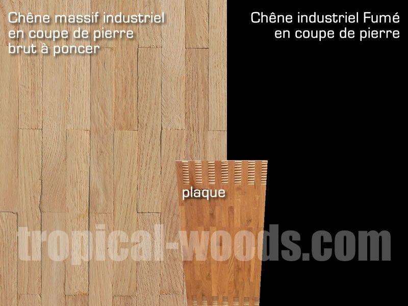 Parquet Industriel Mosaique Coupe Pierre En Chene Pr Brut 8 Mm
