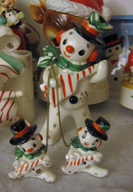Vintage Snowman Figurines