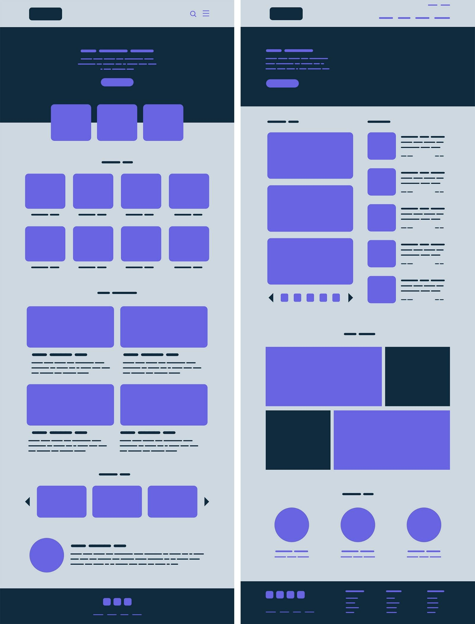 Gestalt principles in UI design.