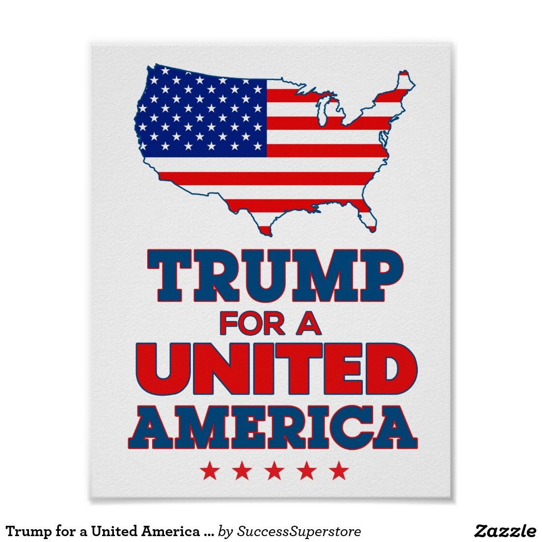 trump for a united america poster with flag pinterest flags and