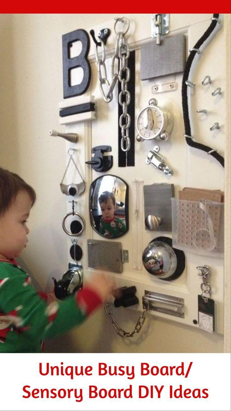 homemade baby toys sensory wall board
