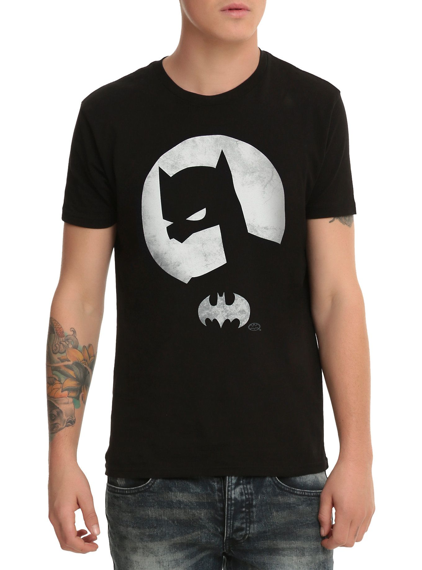 DC Comics Batman Paint Camiseta de Manga Larga para Hombre