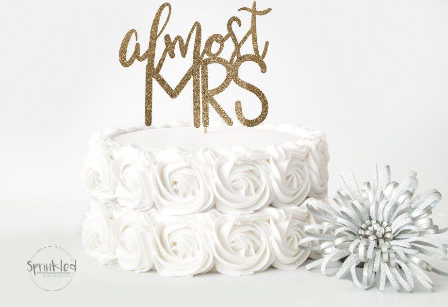 bridal shower cake topper svg