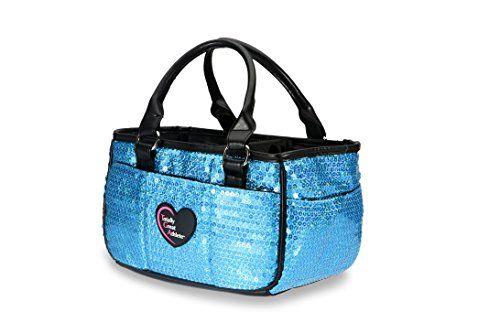 324514b72050 Ocean Blue Sequin Ice Skating Bag Tennis Gym And Ballet Girls Athletic Bag